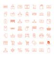 sale icons vector image vector image