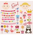 Scrapbook girl set vector image vector image