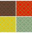 seamless abstract art pattern set vector image vector image