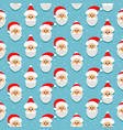seamless pattern with santa claus christmas or vector image vector image