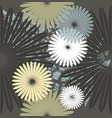 seamless pattern with stylish chamomile flowers vector image