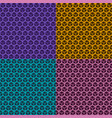 set of seamless cubic patterns vector image
