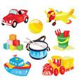 set toys for children vector image vector image
