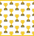 simple seamless trophy icon pattern main icon vector image