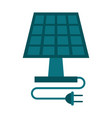 solar panel and plug icon image vector image vector image