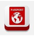square button passport vector image