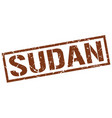 sudan brown square stamp vector image vector image
