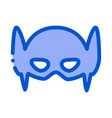 super hero mask icon outline vector image
