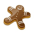 Sweet chocolate biscuit human vector image