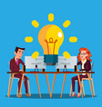 teamwork female and male characters vector image vector image