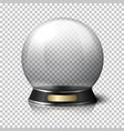 Transparent realistic crystal ball for vector image vector image