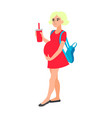 unhappy teen girl pregnant vector image