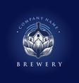 vintage brewing house company logo vector image