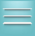 white shelf with mint background vector image vector image