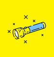 yellow flashlight icon vector image