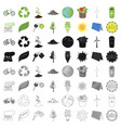 bio and ecology set icons in cartoon style big vector image