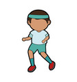 boy running cartoon vector image