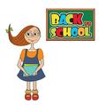 Funny schoolgirl vector image