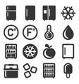 refrigerator icons set on white background vector image