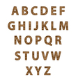 Textured tree font vector image