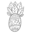 adult coloring bookpage a cute pineapple with vector image