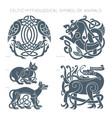 ancient celtic mythological symbol animals vector image vector image