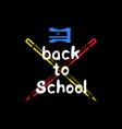 back to school set on black vector image