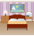 Bed Room Interior vector image vector image