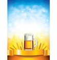 beer wheat vertical background vector image vector image