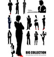 big collection of business woman silhouettes vector image