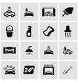 black car wash icon set vector image vector image