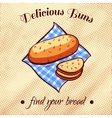 Bread On A Napkin 11 vector image vector image