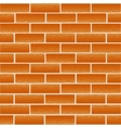 Brickwork of ordinary red bricks vector image vector image