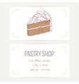 Business card template with chocolate cake vector image vector image