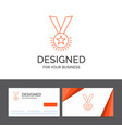 business logo template for award honor medal rank vector image vector image