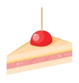 Cake sweet isolated vector image vector image