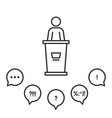 campaign speech before an audience vector image