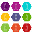 car candle icons set 9 vector image vector image