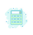 cartoon colored calculator icon in comic style vector image
