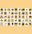 category industry icon set of the world vector image vector image