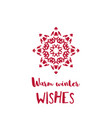 christmas and new year greeting card with red vector image vector image