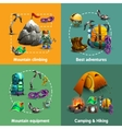 Climbing 4 3d icons square banner vector image