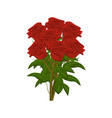 clip art large bunch of red roses vector image vector image