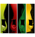 cocktails banners vector image vector image