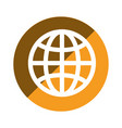color circular emblem of world map vector image vector image
