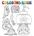coloring book pirate thematics 2 vector image vector image