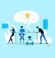 creative crisis business people group in office vector image vector image