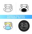 custom face masks black linear icon vector image vector image