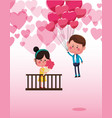 cute couple in love cartoons vector image vector image