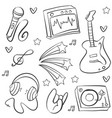 doodle of music art